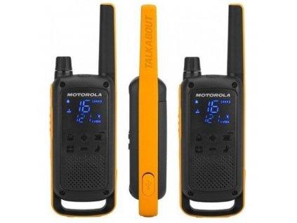 Motorola vysílačka TLKR T82 Extreme (2 ks, dosah až 10 km), IPx4, černo/žlutá  + doprava zdarma