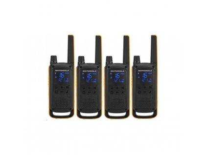 Motorola vysílačka TLKR T82 Extreme Quadpack (4 ks, dosah až 10 km), IPx4, černo/žlutá  + doprava zdarma