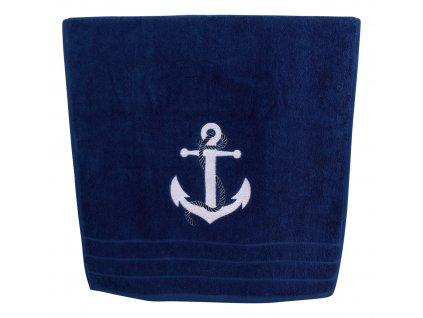 Ručník námořnický s kotvou 50 x 100 cm tmavě modrý 3612