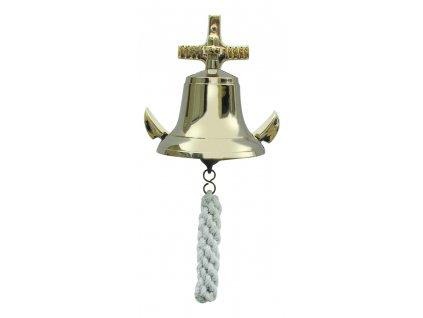 Lodní zvon mosazný s kotvou Ø 12 cm 1530
