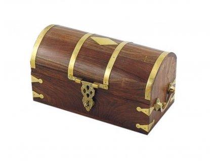 Dřevěná truhla námořnická rustikální 38 cm