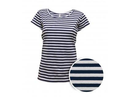 Námořnické triko dámské krátký rukáv