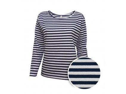 Námořnické triko dámské dlouhý rukáv