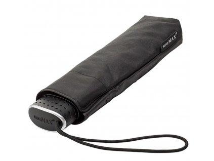 MiniMAX Slim - plochý skládací větruodolný deštník - černý