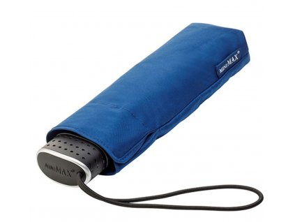 MiniMAX Slim - plochý skládací větruodolný deštník - modrý