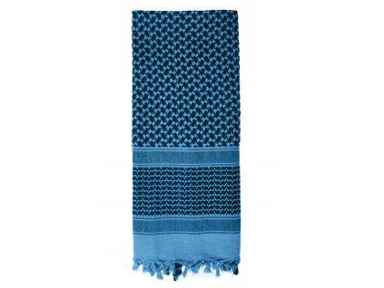 Šátek SHEMAGH odlehčený MODRÝ 105 x 105 cm