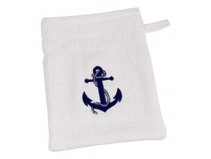 Žínka námořnická s kotvou SEA-CLUB 16 x 21 cm bílá