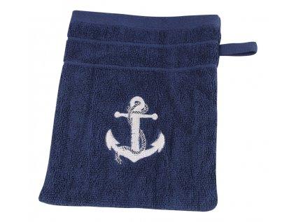 Žínka námořnická s kotvou SEA-CLUB 16 x 21 cm tmavě modrá