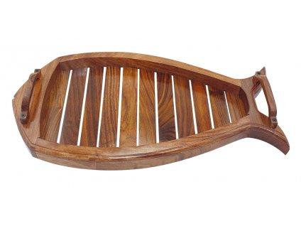 Podnos dřevěný námořnický - ryba 47 cm