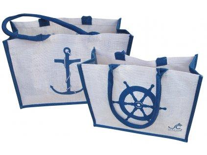 Taška jutová námořnická plážová i nákupní