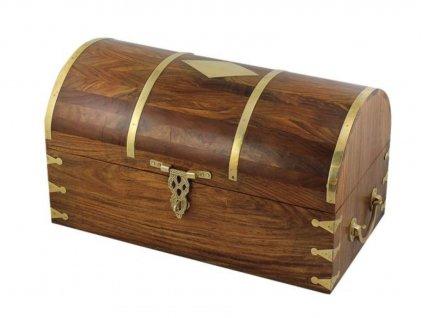 Dřevěná truhla námořnická rustikální 46 cm