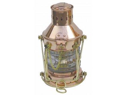 Petrolejová lampa námořnická kotevní - měděná