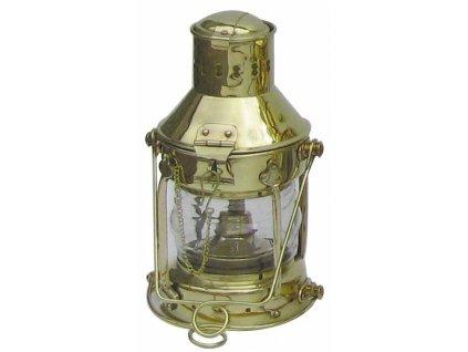 Petrolejová lampa námořnická kotevní - mosazná 1263