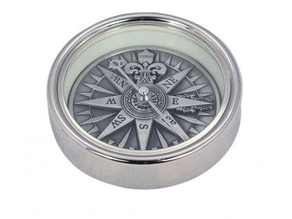 Kompas 3D s větrnou ružicí stříbrný 1145
