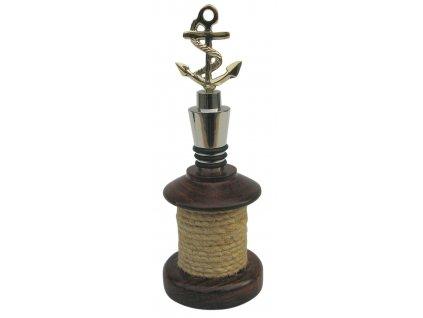 Zátka na láhev vína námořnická s kotvou