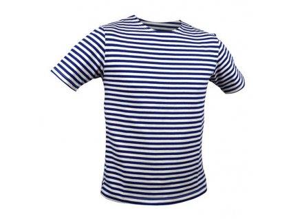 Námořnické triko pruhované krátký rukáv - nebělená bavlna