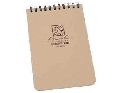 Blok voděodolný RITE IN THE RAIN Notebook DESERT  + tužka s gumou