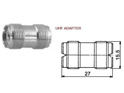 PL-PL adapter f/f