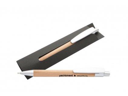 Kuličkové pero bambusové - propiska Yachtmeni
