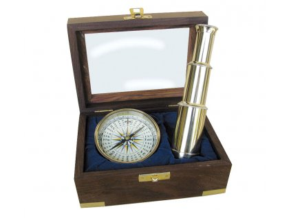 Námořní set dalekohled a kompas 9299