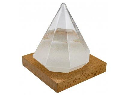 Bouřková sklenička - Stormglas ve tvaru diamantu 13 cm 5972