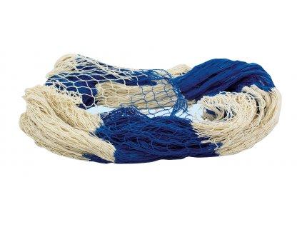Rybářská síť přírodní / modrá 200 x 400 cm