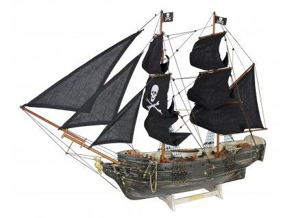 Model lodě - pirátská plachetnice 78 cm