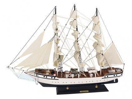 Model lodě - cvičná plachetnice Danmark 79 cm