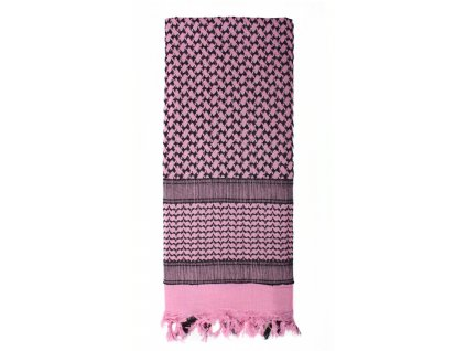 Šátek SHEMAGH odlehčený RŮŽOVÝ 105 x 105 cm