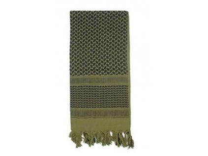 Šátek SHEMAGH odlehčený OLIV 105 x 105 cm
