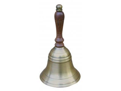 Stolní zvonek mosazný antik Ø 9 cm 8509