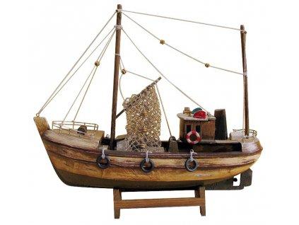 Model staré rybářské lodě 30 cm 5180