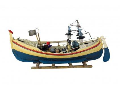 Model rybářského člunu 47 cm