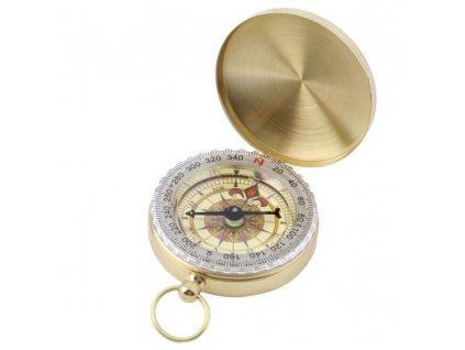 Měděný kompas v uzavíratelném kovovém pouzdru BZ0002