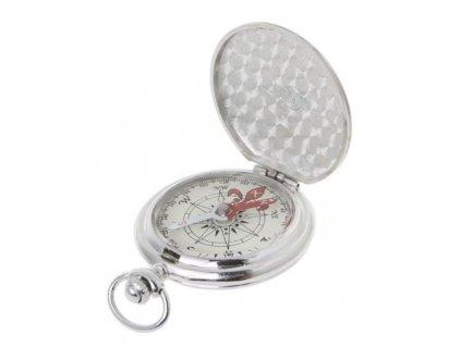 Kapesní kompas v uzavíratelném kovovém pouzdru BZ0004-ST