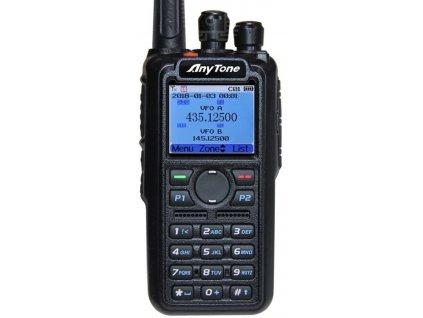 ANYTONE D868UV, dual-band DMR, GPS, USB kabel + 3100mAh baterie