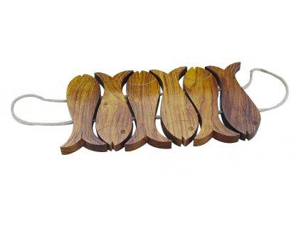 Dřevěná podložka pod nádobí - ryby