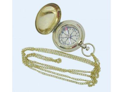 Kompas na řetízku mosaz průměr 5 cm 8240