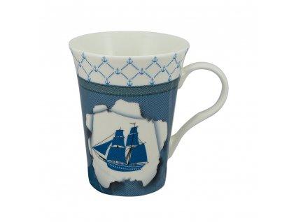 Hrnek porcelánový s lodí