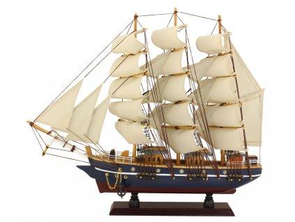Model lodě - plachetnice - plnoplachetník 47 cm 5054