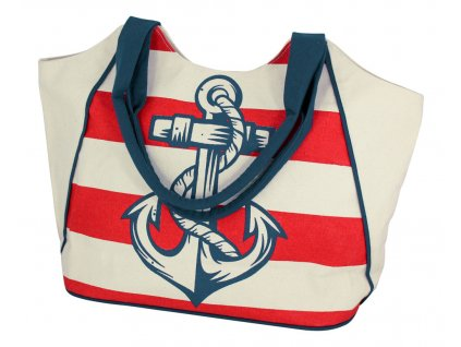 Taška nákupní námořnická s kotvou 9839