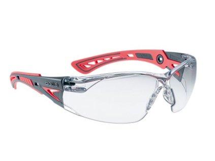 Brýle balistické ochranné BOLLE RUSH+ SMALL červené čiré