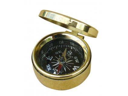 Malý mosazný kompas s víkem