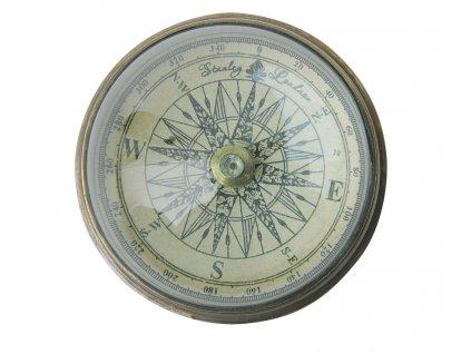 Kompas starožitný se skleněnou kopulí