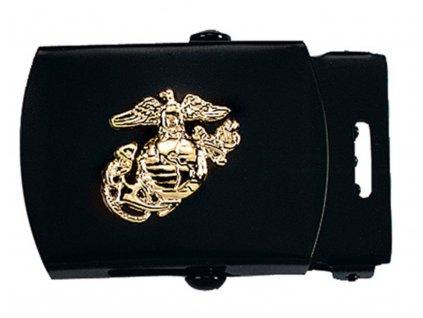 Přezka na pásek s USMC symbolem ČERNÁ