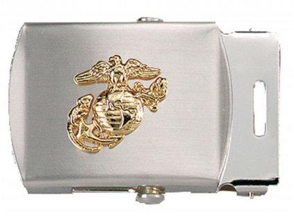 Přezka na pásek s USMC symbolem CHROMOVANÁ
