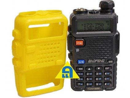 Silikonové ochranné pouzdro BAOFENG žluté