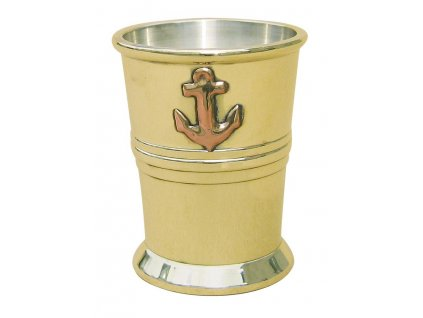 Džbánek na rum mosaz/stříbro
