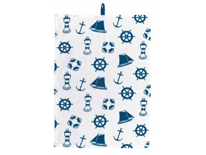 Kuchyňský ručník MARITIME námořnický s kotvami