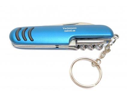 Nůž nerez kapesní s 6 funkcemi YACHTMENI modrý